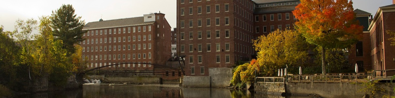 Mill buildings and Sugar River
