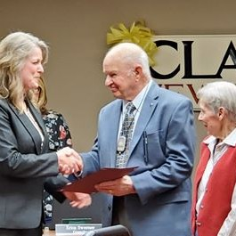 Bob Landry honored for service to community.