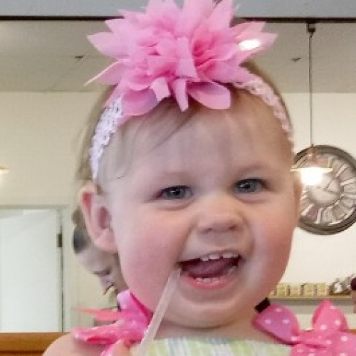 Toddler with PInk Bow