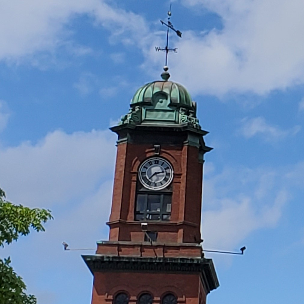 Clock tower on City Hall