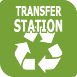 Transfer Station and recycling symbol